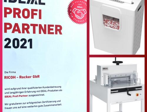 IDEAL Profi-Partner-Zertifikat 2021